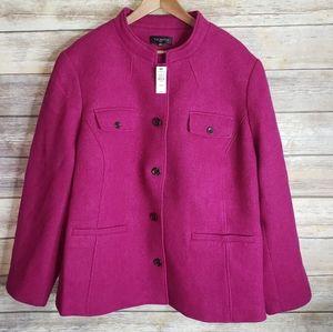New Talbots plus size fuchsia wool jacket